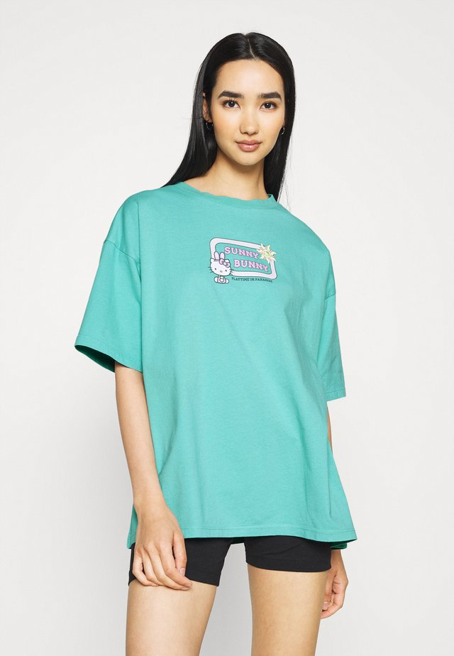 SUNNY BUNNY TEE - T-shirts med print - turquoise