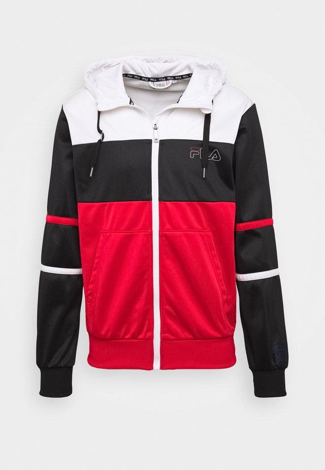 LAITO TRACK JACKET - Sportovní bunda - true red/bright white/black