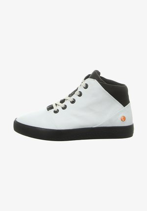 Lace-up ankle boots - white/black