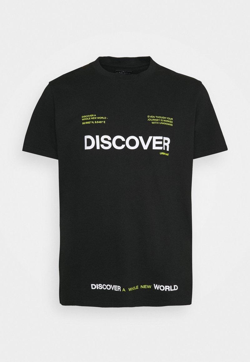 URBN SAINT - SONAR TEE - Print T-shirt - black