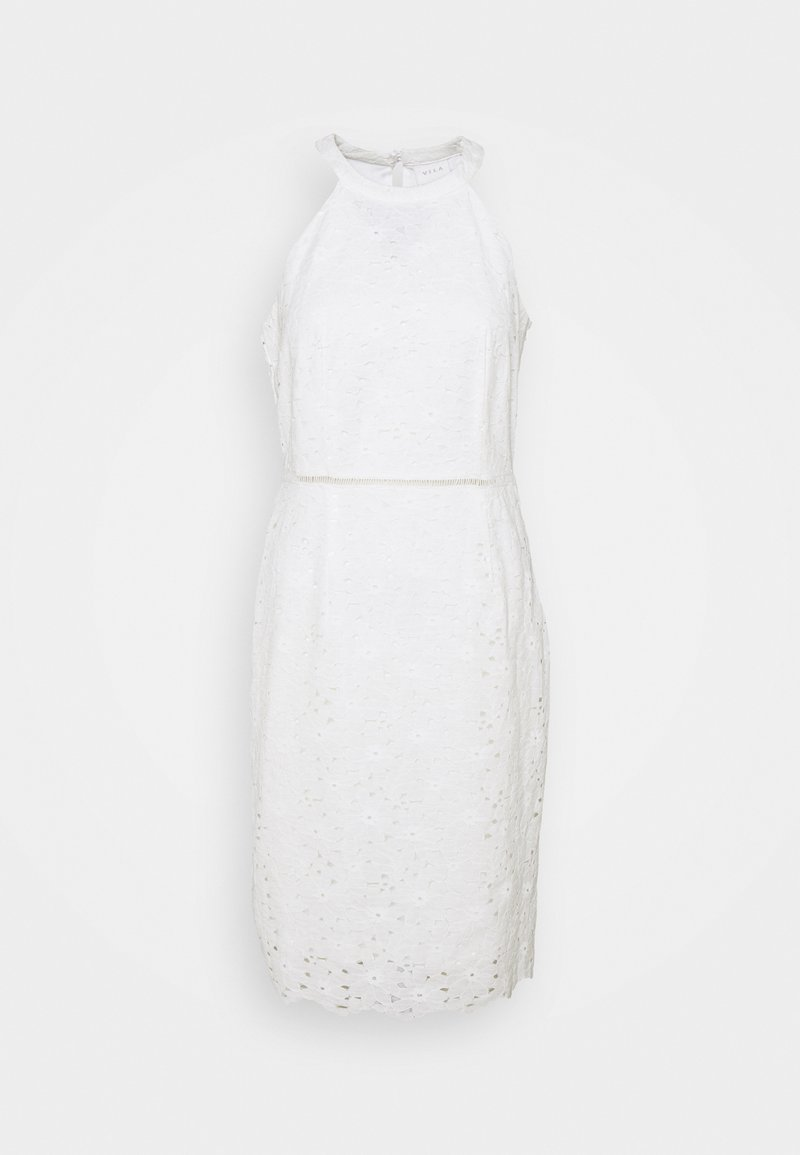 Vila - VIEMMIE HALTERNECK DRESS - Cocktail dress / Party dress - cloud dancer