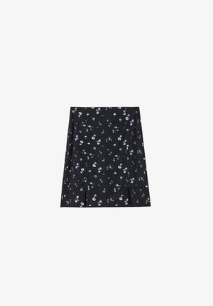 A-line skirt - mottled dark grey