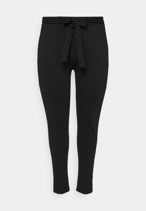 CARPEVER BELT PANT - Bukse - black/piping
