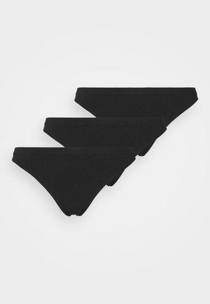 SEAMLESS 3 PACK - Thong - black/black/black