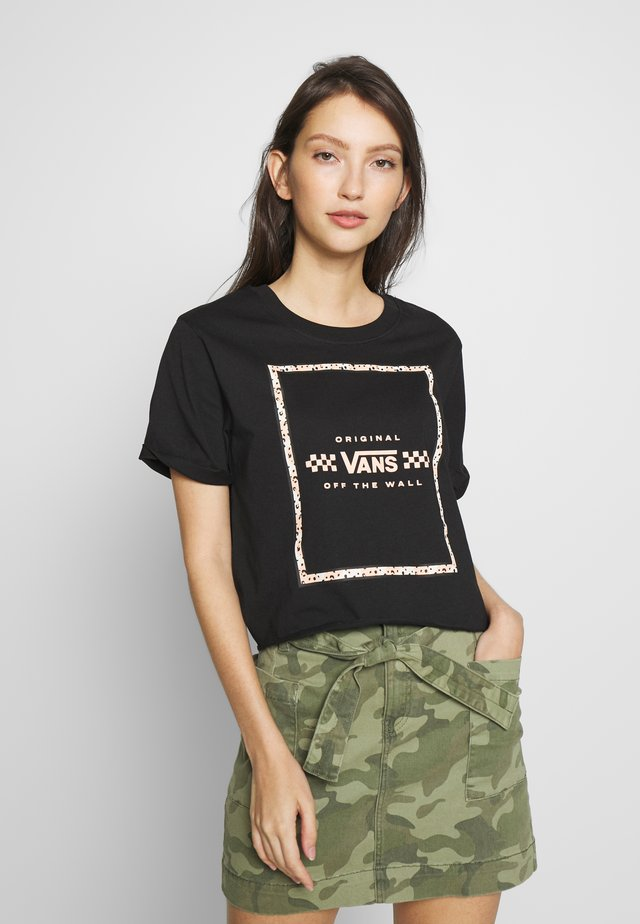 LEILA TEE - Print T-shirt - black