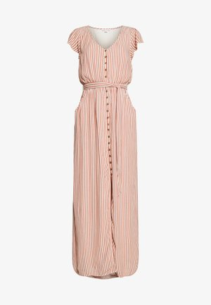 PLACKET FRONT BELTED MAXI - Maxi dress - rust