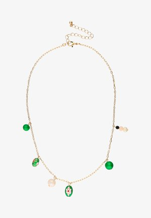 MIT GLASSTEINE, ZUCHTPERLEN - Necklace - gold coloured