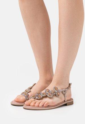 TINA - T-bar sandals - rosegold