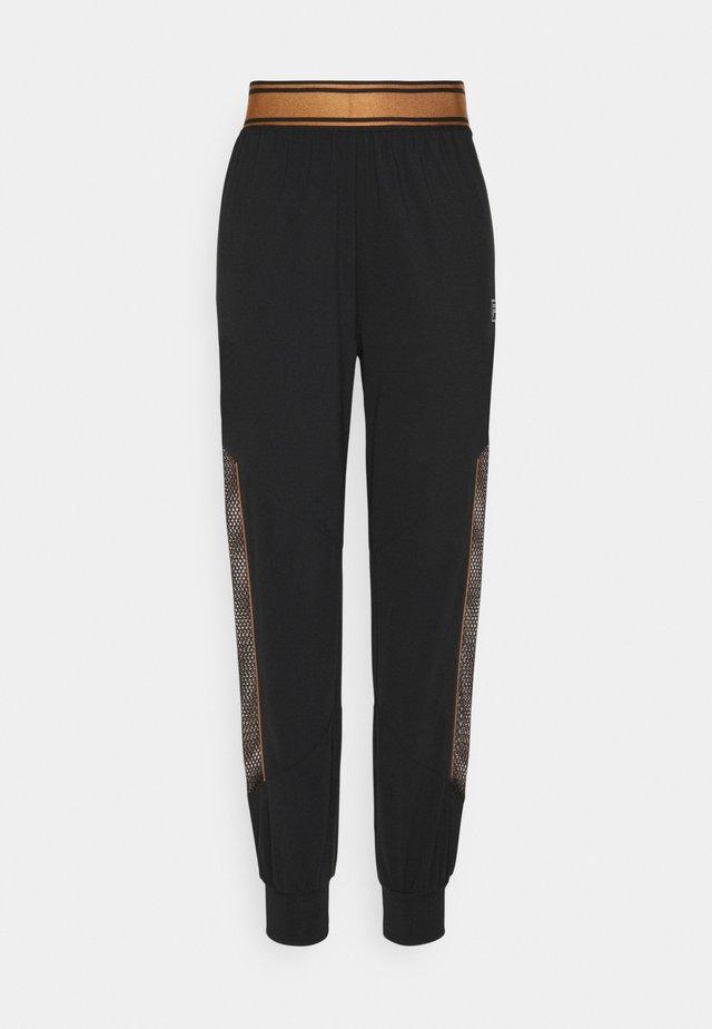 NURIA HIGH WAIST PANTS - Pantalones - black