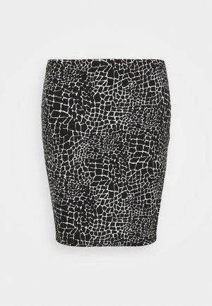 MONO PRINT MINI SKIRT - Mini skirt - black/ivory