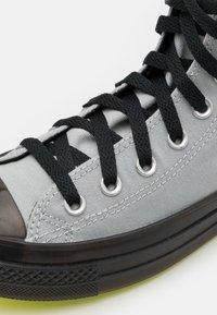 Converse - CHUCK TAYLOR ALL STAR UNISEX - High-top trainers - ash stone/black/lemon - 5