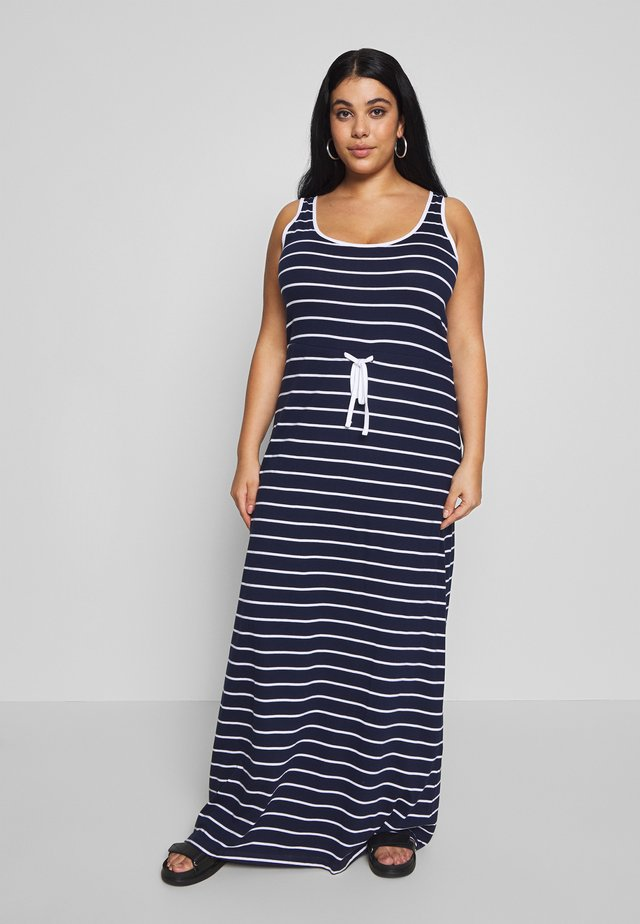 BASIC MAXI DRESS - Długa sukienka - white/marititime blue