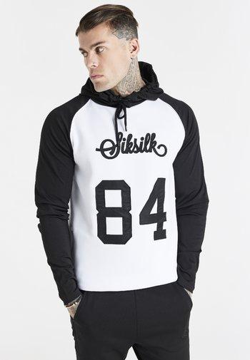 OVERHEAD RETRO HOODIE - Sweatshirt - white/black
