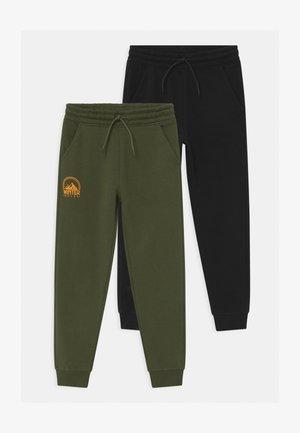 2 PACK - Trainingsbroek - khaki, black
