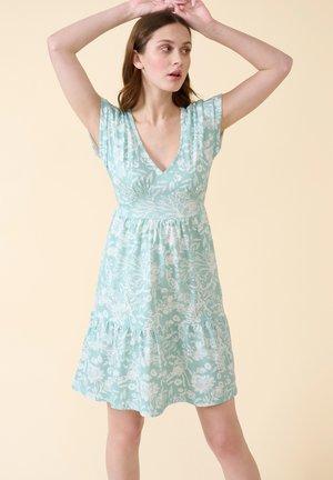 Jersey dress - helles meerblau