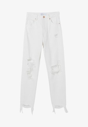 MOM - Relaxed fit jeans - white
