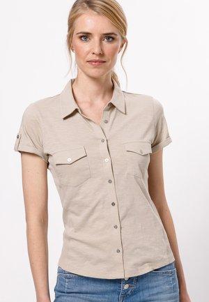 Button-down blouse - raw cotton