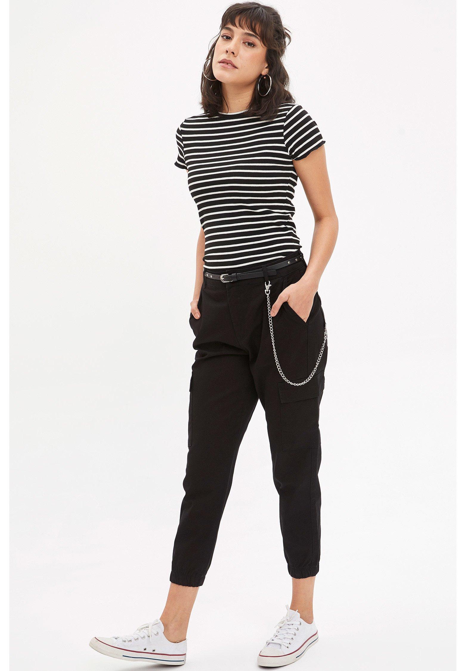 DeFacto Camiseta estampada - black KSJH1