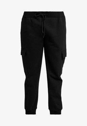 LADIES CARGO PANTS - Pantaloni sportivi - black