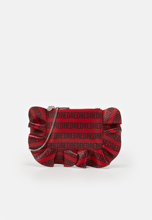 LOGO RUFFLE CROSSBODY - Across body bag - red kiss/nero