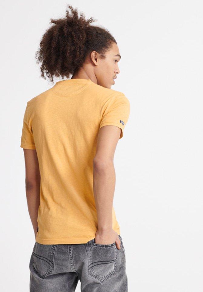 Superdry HERITAGE  - T-shirt basic - ochre - Odzież męska Tani