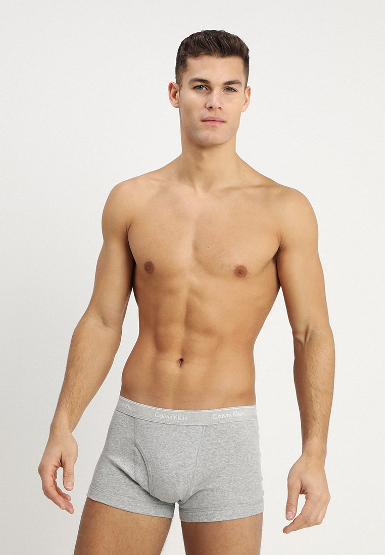 Calvin Klein Underwear - TRUNK 3 PACK - Culotte - black/grey/white