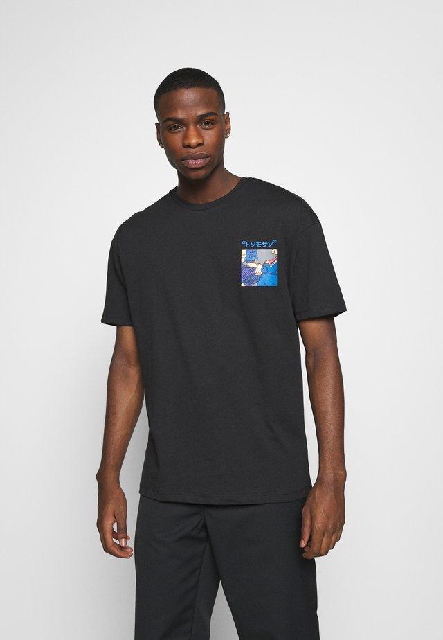 JORTOK TEE CREW NECK - T-shirt imprimé - black