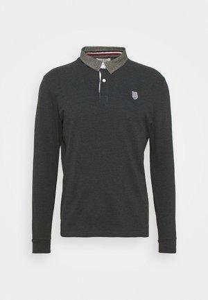 COLLAR RUGBY - Polo shirt - mottled dark grey