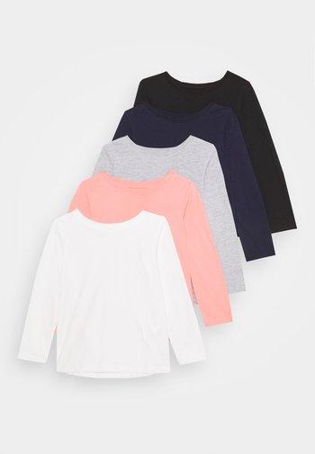 GIRLS TEE 5 PACK - Longsleeve - light grey/pink/black