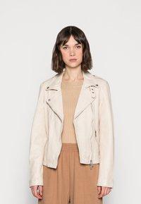 Freaky Nation - NEW UNDRESS ME - Leather jacket - off-white - 0