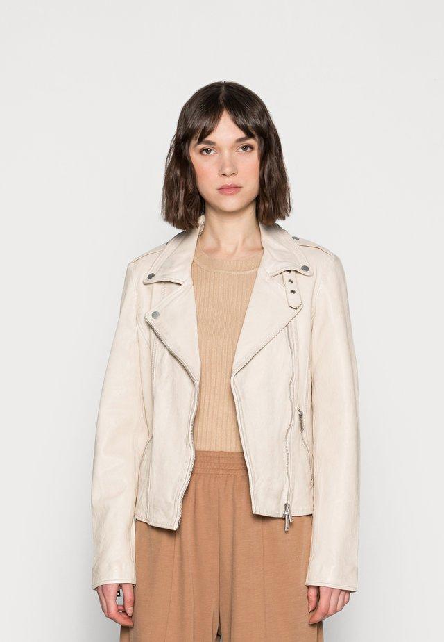 NEW UNDRESS ME - Leather jacket - off-white