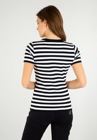 Armor lux - HILLION MARINIÈRE - Print T-shirt - rich navy/blanc - 1