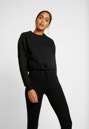 LADIES SHORT RAGLAN CREW - Sweatshirt - black
