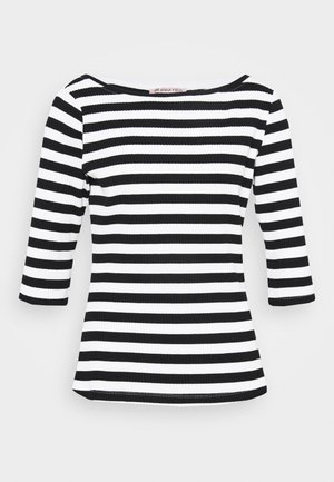 Long sleeved top - black/white