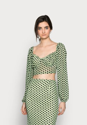SPOT LONG SLEEVE CROP - Long sleeved top - mint