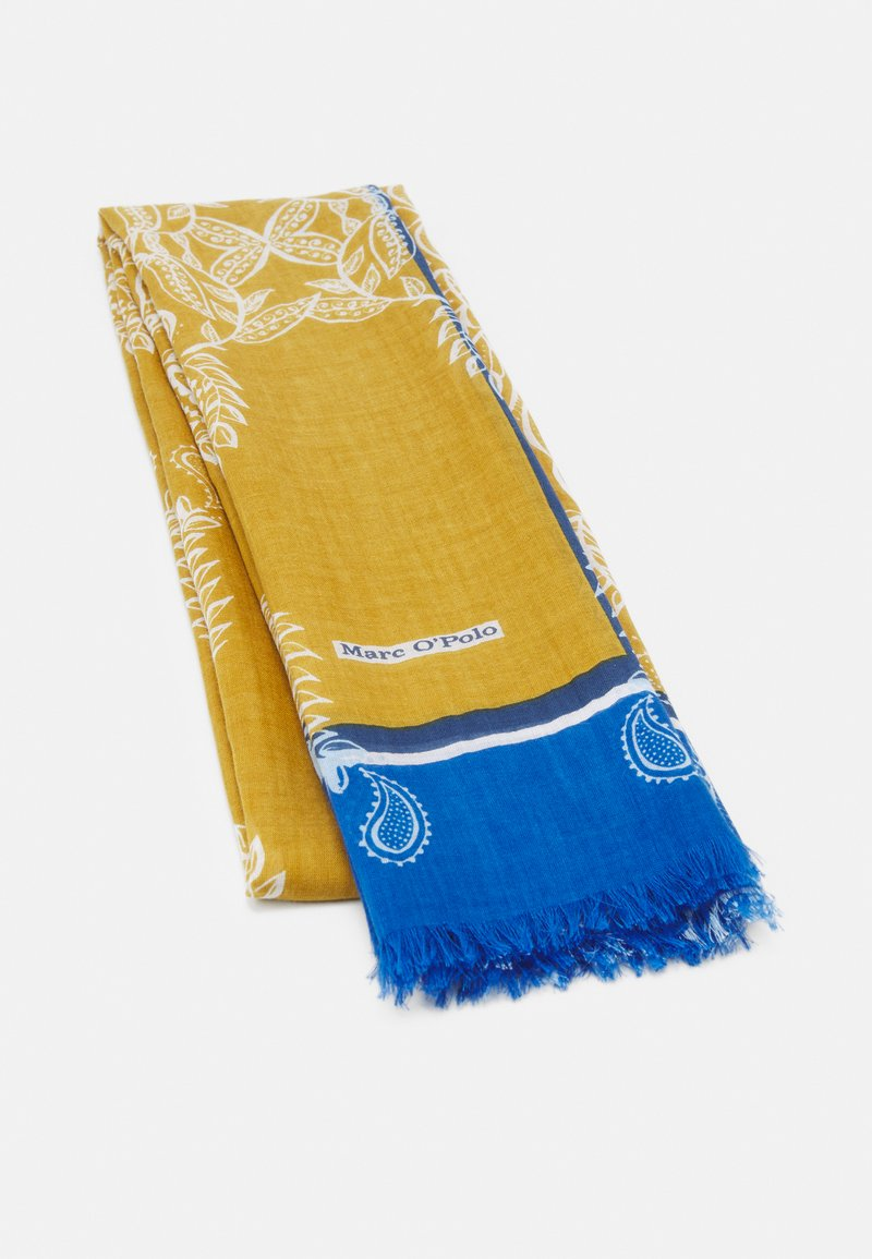 Marc O'Polo - SCARF SUPER SOFT MIX VARIOUS PRINTS - Sjal - mustard/blue