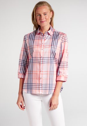 Button-down blouse - rosa/blau