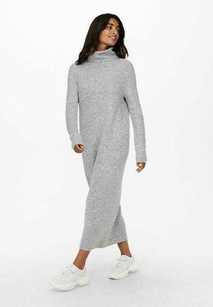 EXTRALANG - Gebreide jurk - light grey melange