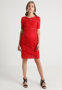 MAMALICIOUS - MLMIVANA BACK DRESS - Vestido de cóctel - chinese red - 1