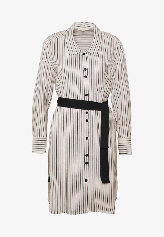 RAYONA - Sukienka koszulowa - ecru/noir