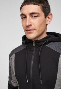 Q/S designed by - Zip-up sweatshirt - black - 3