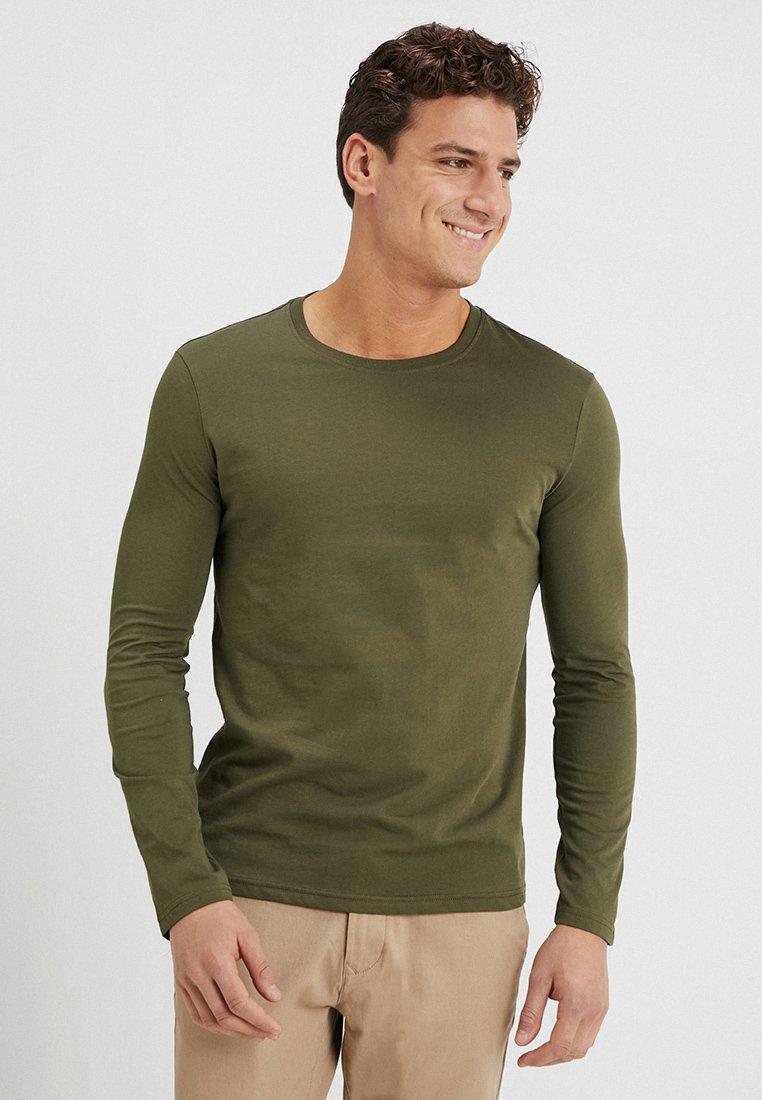 Benetton - BASIC CREW NECK - Bluzka z długim rękawem - olive