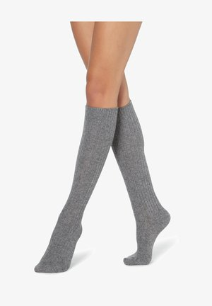Knee high socks - grigio melange