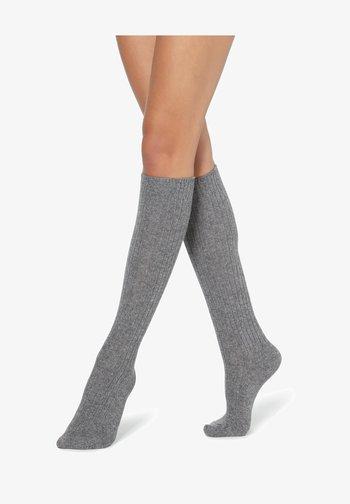 Knee high socks - grigio melange