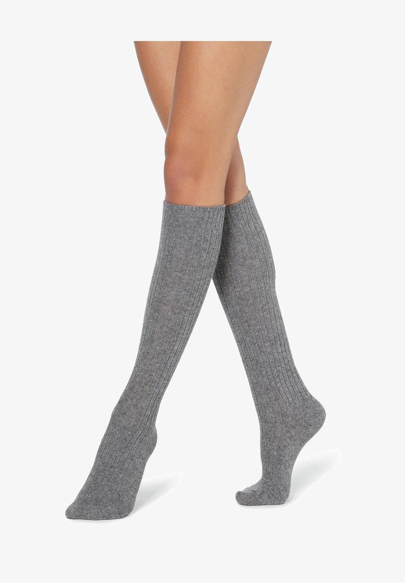 Calzedonia - Knee high socks - grigio melange