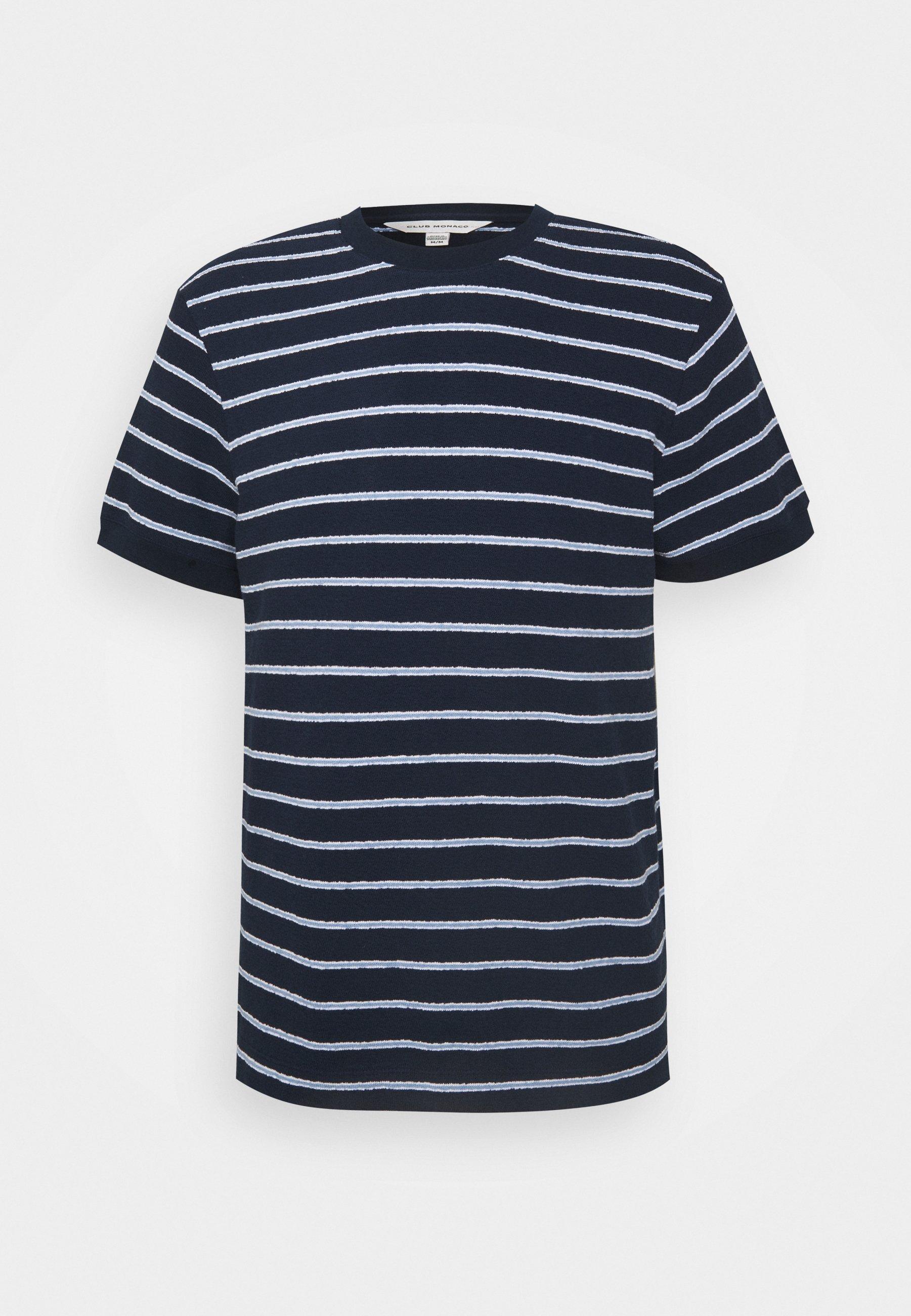 Men TEXTURAL STRIPE - Print T-shirt