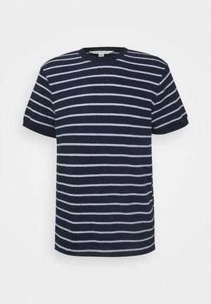 TEXTURAL STRIPE - T-shirt con stampa - navy