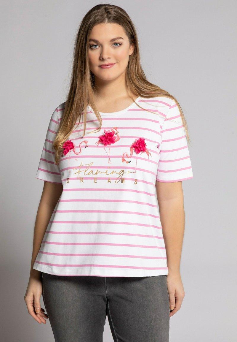Ulla Popken - Print T-shirt - schneeweiß
