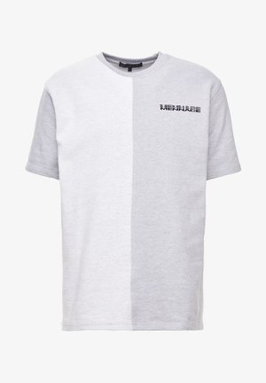 CONTRAST TEXTURE - T-shirt med print - grey