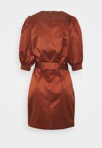 Samsøe Samsøe - CELESTINA SHORT DRESS - Cocktail dress / Party dress - brandy brown - 1